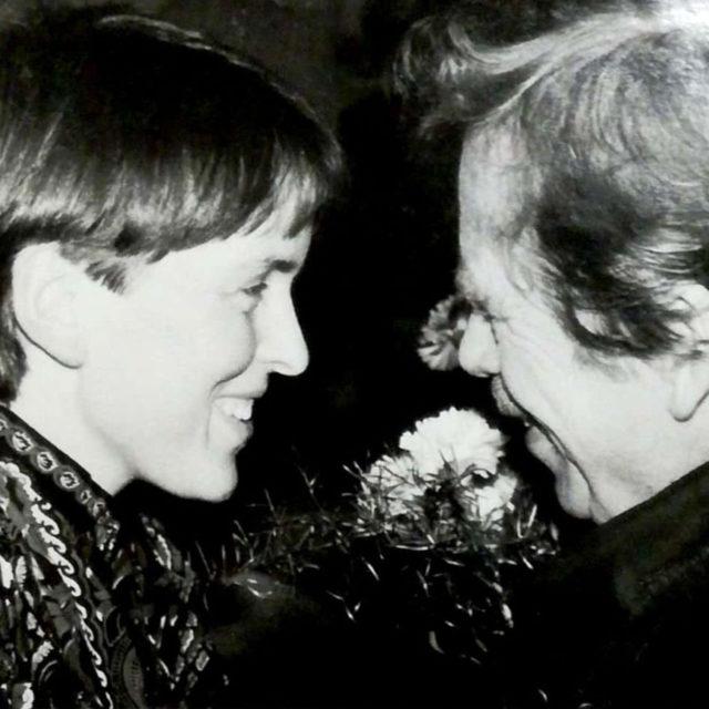 Hana Jüptnerová s Václavem Havlem