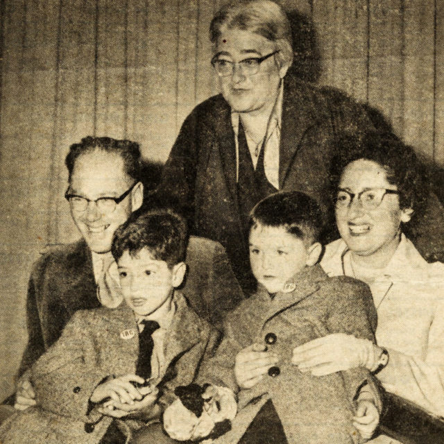 Jan Roček s rodinou