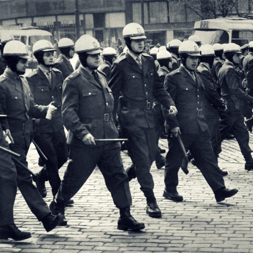 Zásah 21. srpna 1969, foto Jiří Všetečka